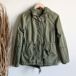 Army Green Lightweight Utility Anorak Jacket